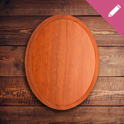 LASER WALL OVAL PLAQUE A - Blank Portrait