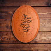 Oval Plaque B 1581 - Psalm 119:105