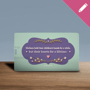 Mothers hold their children's hands - USB Card 8GB 2