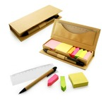 Eco Friendly Sticky Notes With Ruler And Pen
