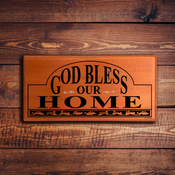 Wall Plaque E 2416 - God Bless Our Home