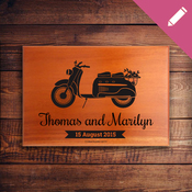 Mini Name Plaque 2269 - Scooter Love