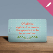 Of all the rights of women - Simple Laurel - USB Card 8GB 2