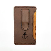 Anchor - Leatherette Mobile Money Clip - Coffee