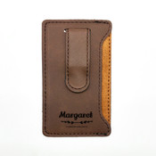 Name Leatherette Mobile Money Clip - Coffee 2