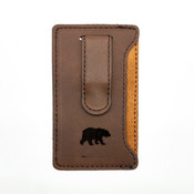 Bear - Leatherette Mobile Money Clip - Coffee