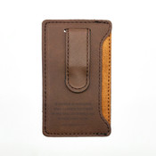 A Father Is Someone Who Carries Pictures... - Leatherette Mobile Money Clip - Coffee