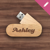 Swivel Maple USB [plastic box]