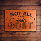 Mini Name Plaque 1074 - Not All Who Wander Are Lost