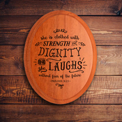 Oval Plaque A 1577 - Proverbs 31:25