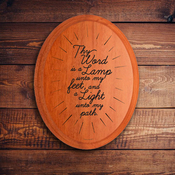 Oval Plaque A 1581 - Psalm 119:105