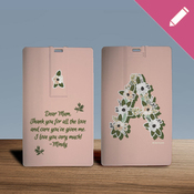 Floral Alphabet Monogram - USB Card 8GB  2