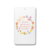 Of all the rights of women, the greatest is to be a mother - Floral Wreath - Traveller Power Card - 4000 mAh 2 2