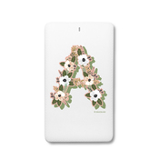Floral Garden Monogram - Traveller Power Card - 4000 mAh 2 2